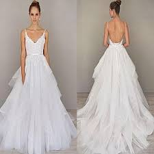organza wedding gowns. Discount Spaghetti Straps A Line Wedding Dresses Backless Sweep
