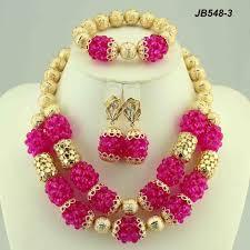 Dubai Gold Jewellery Designs Photos Indian Bridal Coral Beads Necklace Set Dubai Gold Jewelry Wedding Jewellery Designs Custom Fashion Necklace Coral Lucky Buy Dubai Gold Jewelry Set