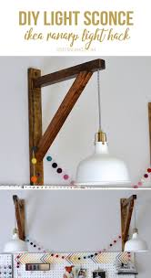 ikea lighting hack. Corbel Style Light Holder For A Pendant IKEA Lamp Craft Room Ikea Lighting Hack