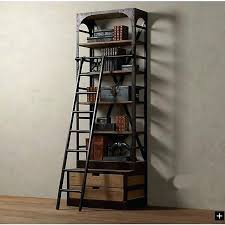 Wooden Ladder Display Stand Ladder Display Shelves Loft Style Wrought Iron Shelves With Ladder 53