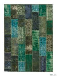 over dyed turkish patchwork rug 5 9 x 7 11 69 in x 95 in