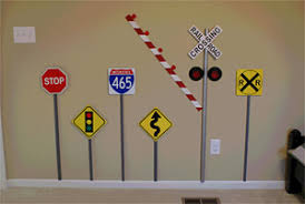 Traffic Sign Wall Decor Traffic Sign Wall Decor Home Decorating Ideas 2
