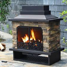 the way people will install the fireplace in the garden must be something which people should consider when they want to add the warm source outdoors