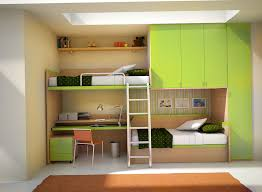 Contemporary Bunk Beds Built Into The Wall