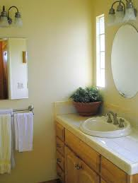 Brighten Up Your Home With A Yellow Bathroom Design - Yellow and white bathroom
