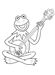Small Picture Kermit the Frog Laughing Coloring Pages Coloring Sky