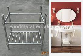 Stainless Steel Bathroom Vanity Stand Buy Stainless Steel Sink Stand Floor Standing Stainless Steel Bathroom Cabinet Kitchen Steel Stand Product On Alibaba Com