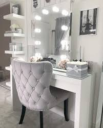 Makeup Vanity With Lights And Chair Diaz Hollywood Mirror Portrait 80 X 60cm Free Standing