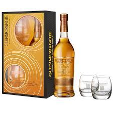 glenmorangie 10 year old single malt scotch whisky 70cl with 2 tumblers