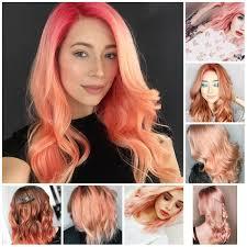 Top Pretty Peach Hair Colors For