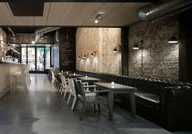 Classic Restaurant Interior Design in Amsterdam ... love the long leather  bench seat and