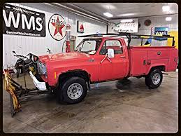 76 Red Pickup Truck Squarebody 3/4 Ton 2500 4X4 V8 WMS Utility Bed ...