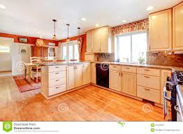 Kitchen Room Simple Warm Colors Kitchen Room With A Small Dining Area Royalty