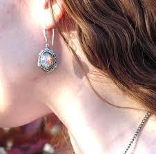 details about pink fire opal earrings vine victorian settings winter gift ideas
