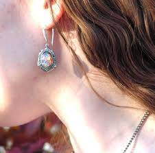 details about pink fire opal earrings vine victorian settings winter gift ideas