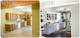 painted white kitchen cabinets before and after. Captivating Painted Kitchen Cabinets Before And After Cabinet Painting Image Of Distressed White C