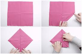 How To Make A Lotus Flower Out Of Paper How To Make An Origami Napkin Lotus