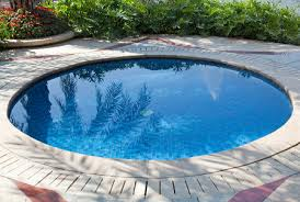Small circular swimming pool