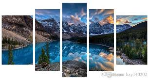 yijiahe fj9 canvas painting art landscape wall art pictures print on canvas stretched and framed ready to hang for wall decor 5 piece canvas art landscape