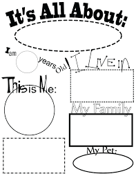 All About Me Worksheets Pdf All About Me Preschool Worksheets Arts And Crafts For