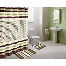 brown and green bathroom accessories. Modren Bathroom Winry Sage Green Striped 15 Piece Bathroom Accessory Set 2 Bath With Accessories  Sets Prepare 18 Throughout Brown And N