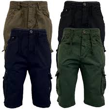 Mens Designer Cargo Shorts Sale Details About Mens Combat Cargo Shorts Crosshatch Knee Length Cotton Casual Fashion Summer New