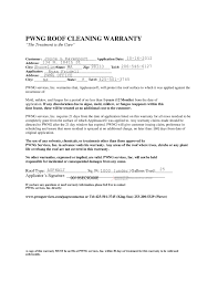 sample roof cleaning warranty pwng roof cleaning warranty example example
