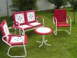 retro metal outdoor furniture. Contemporary Furniture Retro Metal Outdoor Furniture With Vintage For Sale  In Retro Metal Outdoor Furniture U