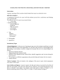 Guidelines For Writing Industrial Review Project Report1docx2