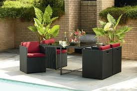 outdoor furniture small balcony. patio small deck furniture apartment balcony red chair with rattan frame metal table outdoor 8
