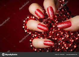 červené Nehty Manikúra Stock Fotografie Gyurma 167855336