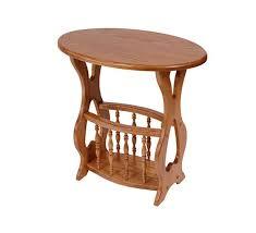 Handmade Magazine Holder Delectable Solid Oak Magazine Rack End Table Oval Top Four Seasons Furnishings