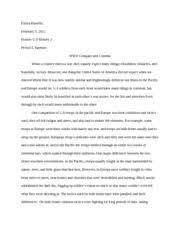pro imperialism essay elysia kinsella honors u s history mr  5 pages wwii compare and contrast essay