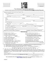 Application For Membership Membership Application The Athenaeum