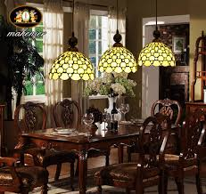 style stained glass dining room pendant lamp hanging lamp 3pcs