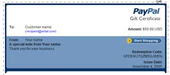 gift certificate for business how to create a gift certificate in paypal