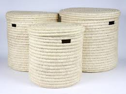 Pretty Laundry Baskets Stunning PALE DOUM PALM NATURAL LIDDED LAUNDRY BASKETS FROM KENYA The