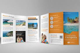 travel trifold brochure indesign template v2 brochure trifold