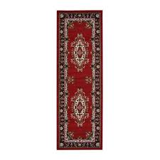 maestro traditional runner red rug