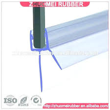 charming shower door t seal strip glass clear plastic screen stop water stri