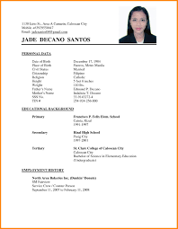 Sample Resume Of A Nurse Applicant Philippines Refrence Applicant
