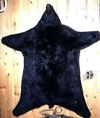 bear skin rug faux fur with head fake diy