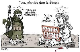 BARBARIE: deux abrutis dans le désert. – Le blog de Plantu