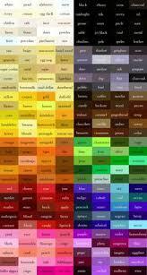 Skin Scope Color Chart 14 Best Color Names Images Color Color Names Color