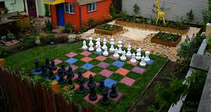 garden chess set. Colorful MegaChess Plastic Chess Set With A 25\ Garden C