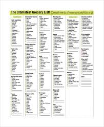 Grocer List Sample Grocery List 20 Documents In Pdf