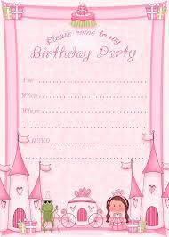 Free Templates For Invitations Birthday Birthday Invitations Birthday Party Invitation Free Princess 23