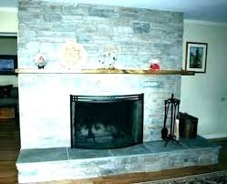 refinish brick fireplace old