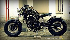 gabriel motorcycles builds a custom bobber based on pulsar 220