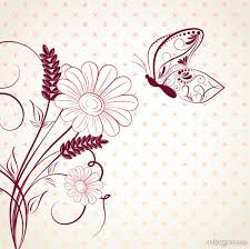 4 Designer Beautiful Flowers Background 02 Vector Material